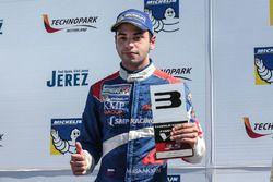 Podium: third place Matevos Isaakyan, SMP Racing by AVF