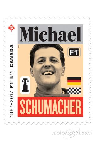 Michael Schumacher stamp