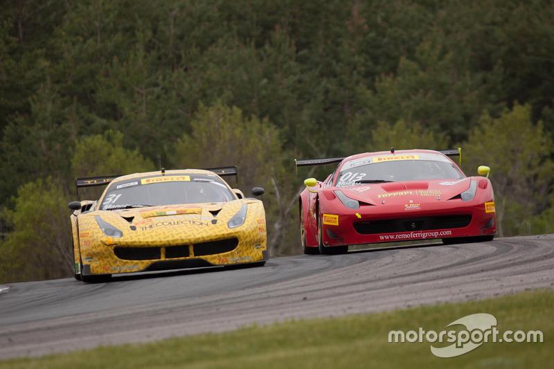 #31 TR3 Racing Ferrari 488 GT3: Daniel Mancinelli, Niccolo Schiro, #013 R. Ferri Motorsport Ferrari