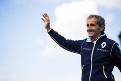 Alain Prost on the podium