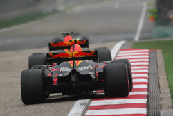 Daniel Ricciardo, Red Bull Racing RB13, leads Max Verstappen, Red Bull Racing RB13