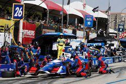 Takuma Sato, Andretti Autosport Honda, pit stop