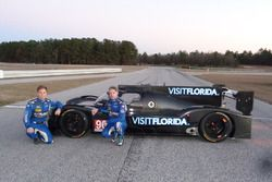 Drivers Renger van der Zande and Marc Goossens with the new VisitFlorida.com Racing Riley-Gibson