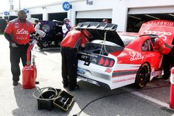 Crew members working on the car of Ryan Reed, Roush Fenway Racing Ford