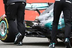 Détails de l'arrière de la Mercedes AMG F1 W08