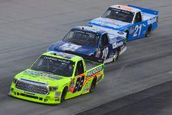 Matt Crafton, ThorSport Racing, Toyota; Austin Cindric, Brad Keselowski Racing, Ford; Johnny Sauter,