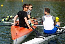 Matt Morris, Engineering Director, McLaren, Stoffel Vandoorne, McLaren, row on the Saint Lawrence Ri