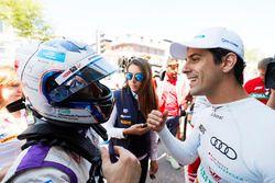 Sam Bird, DS Virgin Racing, with Lucas di Grassi, ABT Schaeffler Audi Sport
