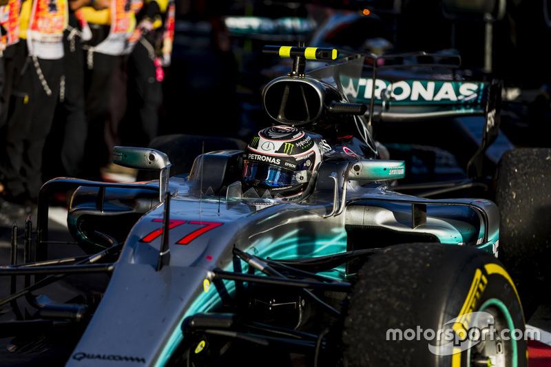 3. Valtteri Bottas, Mercedes AMG F1 W08, im Parc Ferme