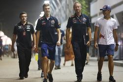 Daniil Kvyat, Red Bull Racing and Pierre Gasly