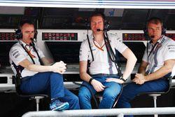 Paddy Lowe, director técnico, Williams fórmula 1, Rob Smedley, responsable de rendimiento del vehícu