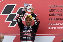 Podium : le vainqueur Johann Zarco, Ajo Motorsport