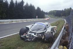 Accident pour Derek Bell, Stefan Bellof, Porsche 956