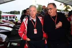 Sergio Marchionne, CEO FIAT and Piero Lardi Ferrari, Ferrari Vice President at Ferrari 70th Anniversary