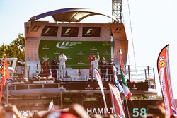 Podium: race winner Lewis Hamilton, Mercedes AMG F1, second place Valtteri Bottas, Mercedes AMG F1,