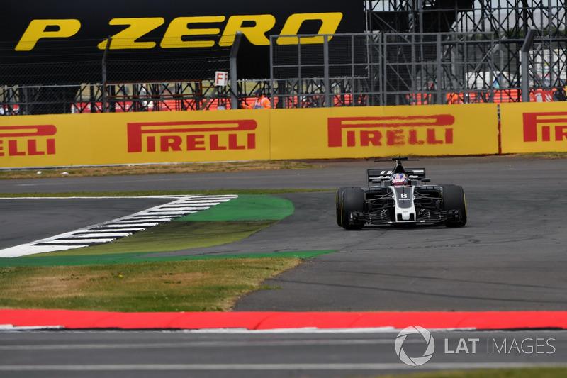 Ромен Грожан, Haas F1 Team VF-17, виїхав за межі траси
