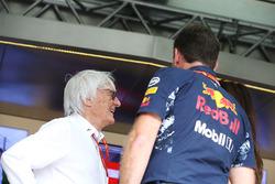 Bernie Ecclestone, Presidente Emérito de Fórmula 1, Christian Horner, director del equipo, Red Bull