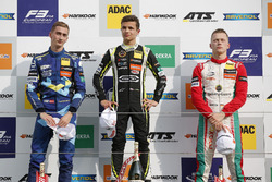 Podium: Race winner Lando Norris, Carlin Dallara F317 - Volkswagen, second place Ferdinand Habsburg, Carlin, Dallara F317 - Volkswagen, third place Maximilian Günther, Prema Powerteam Dallara F317 - Mercedes-Benz