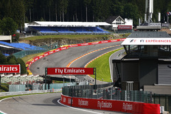 A scenic view of the run down to Eau Rouge