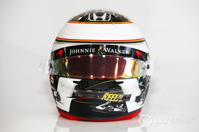 Il nuovo design del casco di Stoffel Vandoorne, McLaren