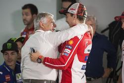 Jorge Lorenzo, Ducati Team, mit Giacomo Agostini