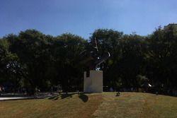 Inauguración de la plaza Ayrton Senna en Brasil