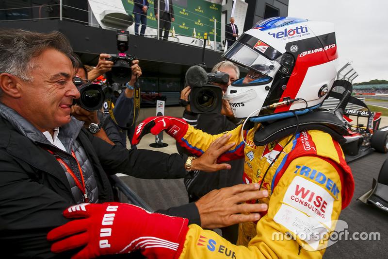 Race winner Giuliano Alesi, Trident, Jean Alesi at Silverstone - GP3 Photos