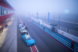 Nicky Catsburg, Polestar Cyan Racing, Volvo S60 Polestar in de mist