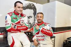 Norbert Michelisz, Honda Racing Team JAS, Honda Civic WTCC and Tiago Monteiro, Honda Racing Team JAS, Honda Civic WTCC