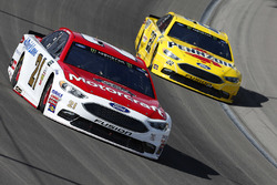 Ryan Blaney, Wood Brothers Racing Ford, Joey Logano, Team Penske Ford