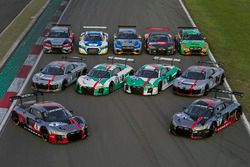 All Audi R8 LMS for the 24 hours race
