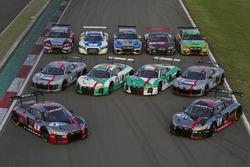 Todos los Audi R8 LMS para las 24 horas