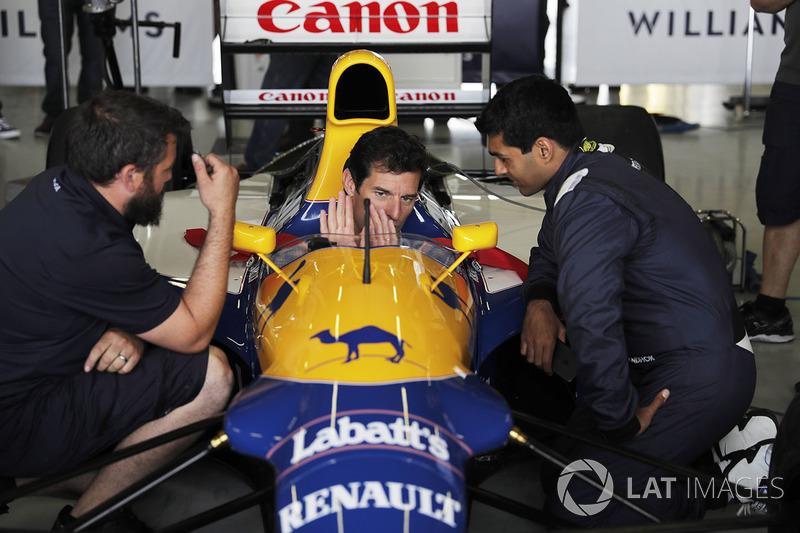 Mark Webber, Williams FW14B Renault, Karun Chandhok