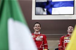 Riccardo Adami, Ferrari Race Engineer and Kimi Raikkonen, Ferrari