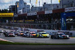 Départ, René Rast, Audi Sport Team Rosberg, Audi RS 5 DTM mène