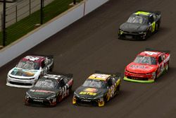 Jeb Burton, JGL Racing Toyota and J.J. Yeley, TriStar Motorsports Toyota