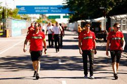 Lucas di Grassi, ABT Schaeffler Audi Sport, walks the track