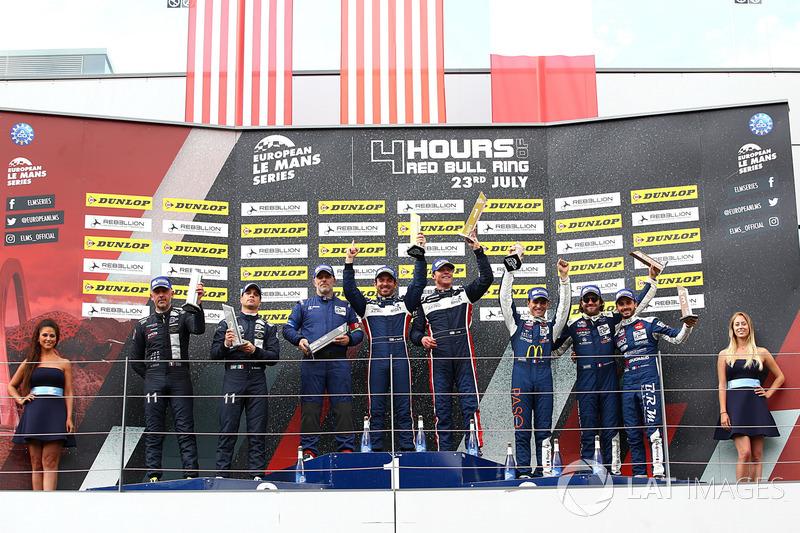 P3 Podio: Ganador de la carrera #9 AT Racing, Ligier JS P3 - Nissan: Alexander Talkanitsa Sr., Alexander Talkanitsa Jr., Mikkel Jensen, segundo lugar #2 United Autosports, Ligier JS P3 - Nissan: John Falb, Sean Rayhall, tercer lugar #18 M.Racing - YMR, Ligier JS P3 - Nissan: Alexandre Cougnaud, Antoine Jung, Romano Ricci