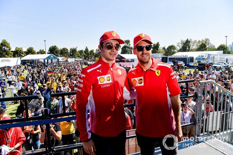 Sebastian Vettel et Charles Leclerc (Ferrari)