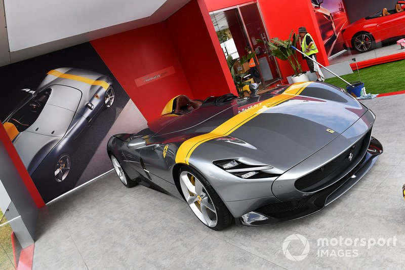 A Ferrari Monza SP1 on display