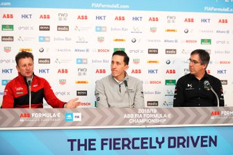 Allan McNish, Team Principal, Audi Sport Abt Schaeffler with James Barclay, Team Director, Panasonic Jaguar Racing, Mark Preston, Team Principal, DS TECHEETAH in the press conference