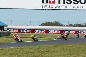 Roberto Locatelli, Aprilia; Andrea Dovizioso, Honda; Casey Stoner, KTM