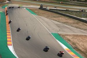 Chaz Davies, Aruba.it Racing-Ducati Team leads the rest as Alvaro Bautista, Aruba.it Racing-Ducati Team clears off