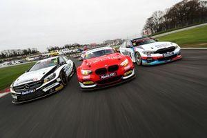 Daniel Rowbottom, Ciceley Motorsport Mercedes, Stephen Jelley, Team Parker Racing BMW and Tom Oliphant, WSR BMW