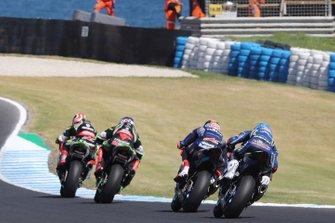 Jonathan Rea, Kawasaki Racing, Leon Haslam, Kawasaki Racing, Michael van der Mark, Pata Yamaha, Marco Melandri, GRT Yamaha WorldSBK