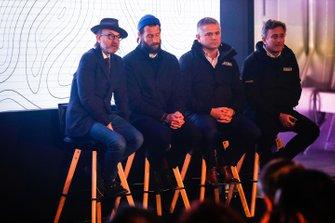Fisher Stevens, directeur artistique d'Extreme E, David De Rothschild, explorateur en chef d'Extreme E avec Gil De Ferran, PDG d'Extreme E et Alejandro Agag, PDG de la Formule E