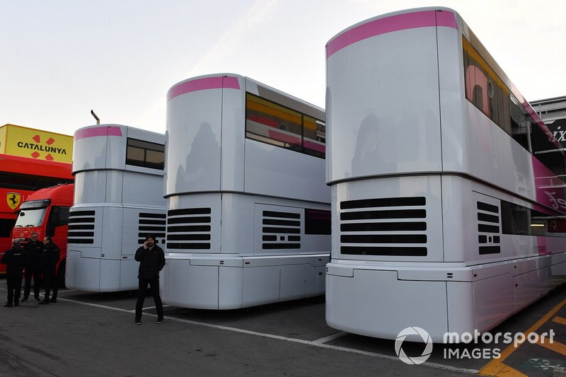 SportPesa Racing Point F1 Team trucks and engineers rooms