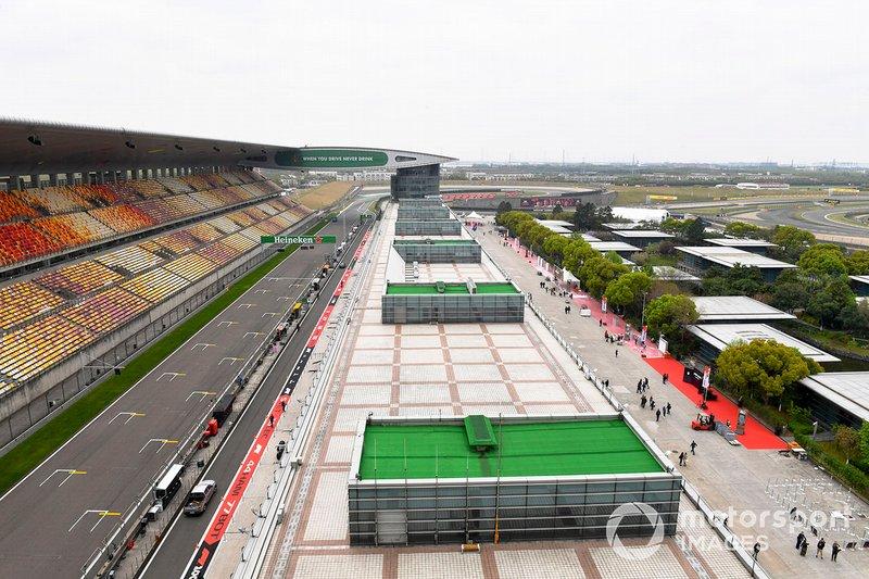 Recta de meta del circuito de Shanghai