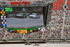 Jimmie Johnson, Hendrick Motorsports, Chevrolet Camaro Ally and Brad Keselowski, Team Penske, Ford Discount Tire