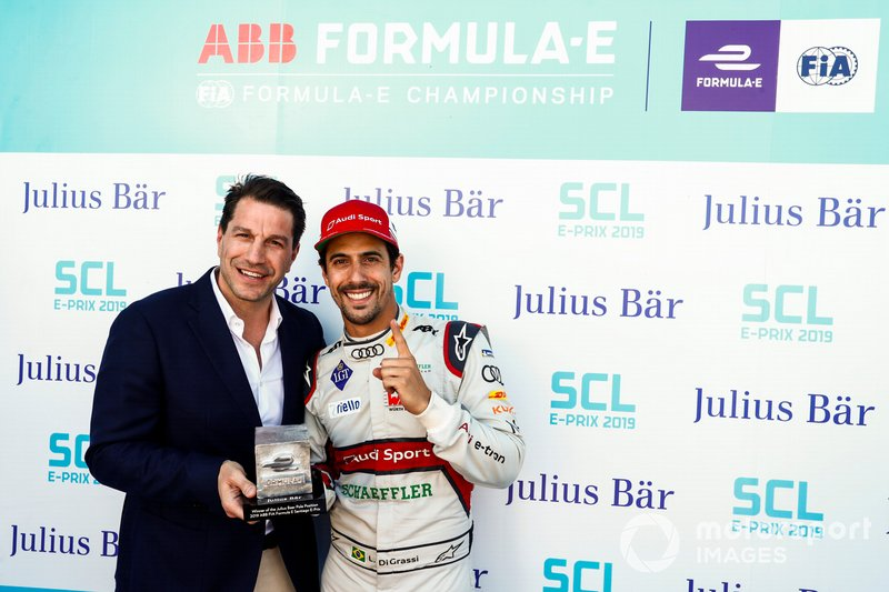 Lucas di Grassi, Audi Sport ABT Schaeffler, logró la pole en el ePrix de Santiago de Chile